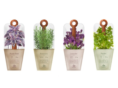Packaging design: sachets with herbs herbs spices spice package design structural packaging
