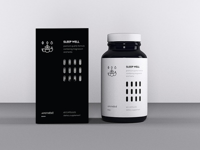 Apotheke: dietary supplement branding/packaging supplement packaging branding