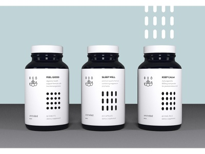 Apotheke - branding/packaging for a supplement brand supplements supplement health label branding packaging