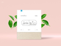 Conscious - a dietary supplement package design
