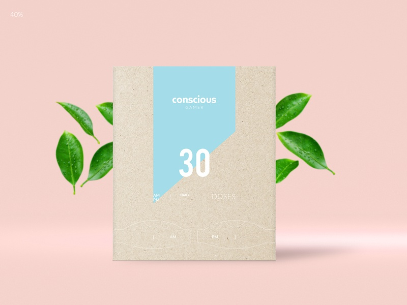 Conscious - a dietary supplement package design (2) branding eco friendly eco-friendly cardboard box recycled paper packaging