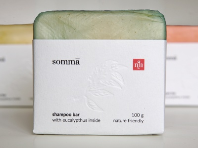 somma - packed with scoby scoby eco-packaging ecology label design soap shampoo package design cosmetics packaging