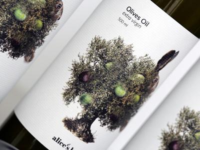 alice's hut   olives oil label design label branding and identity oil olives package design branding packaging