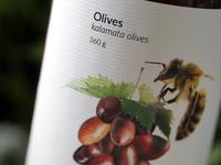 alice's hut: olives label design