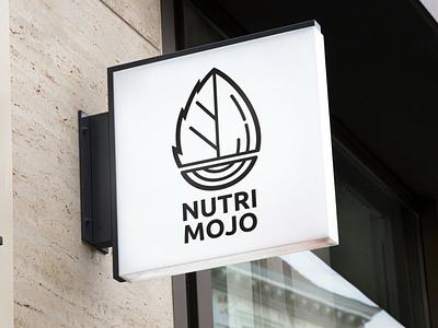Nutri Mojo Vegan Bistro & Take Away branding vector logo