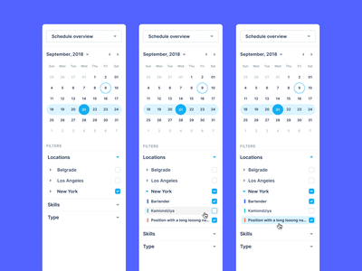 01 / Sidebar Navigation interface saas modern minimal user interface schedule date position location filter calendar ux ui navigation sidebar navigation sidebar menu