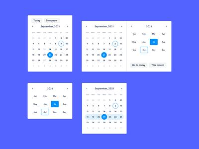 04/ Calendar Exploration figmadesign component interface simple modern minimal user interface calendar ui day week month datepicker date calendar