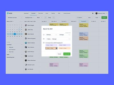 05/ Quick Crate productdesign webapp schedule app time slot shift quick picker interface design modern ux minimal user interface schedule