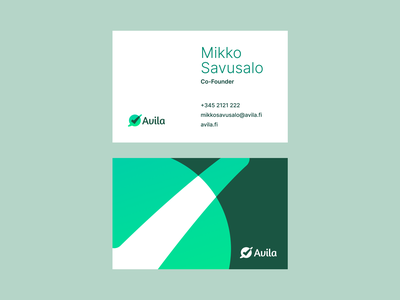 Avila - Business Cards typography symbol brand design logotype mark business cards branding logo