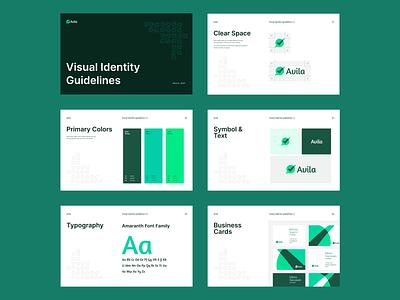 Avila - Brand Guidelines clean minimal specification spacing colors typography logo guidelines branding brand guideline