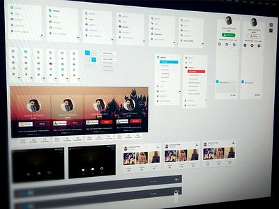UI Kit ui kit design button navigation icon clean flan menu user interface