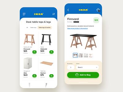 IKEA - Concept ikea ui ux shop retail interaction furniture ecommerce concept app