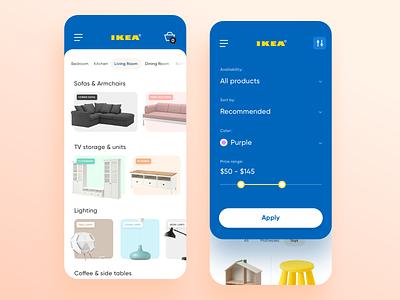 Ikea Concept No.2 ios design design homepage filters user interface ux ui mobile app design store ecommerce concept ikea