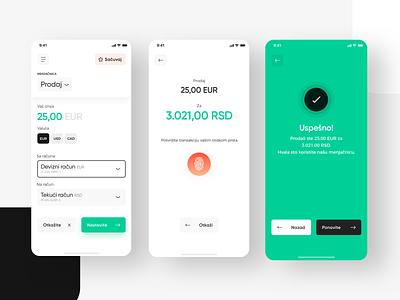 Intesa - Exchange simple minimal uiux user experience user interface mobile app bank exchange ios