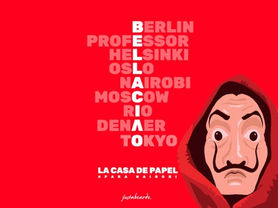 Bella Ciao! money heist art minimalist typography design illustration