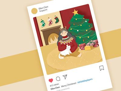 Happy Holiday! 2019 christmas illustration