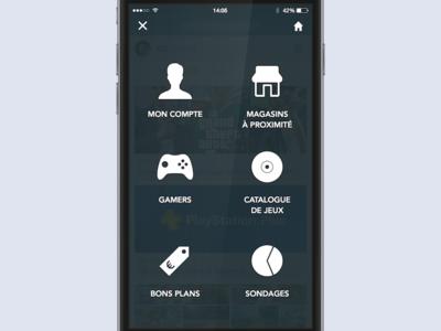 iOS App Design - Menu ios design app menu interface ui ux game icons icon