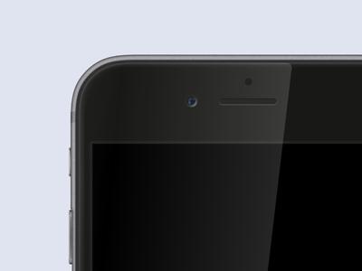 Space Grey iPhone 6 Mock up apple design interface ui freebie psd iphone 6 iphone device mockup