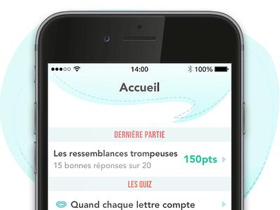 Fautes de Français : Plus Jamais android iphone mobile graphic interface quizz game design ux ui