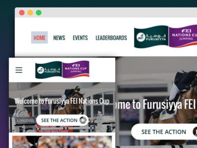 Furusiyya FEI Nations Cup - Responsive Web Design  responsive mobile graphic webdesign web design interface ux ui