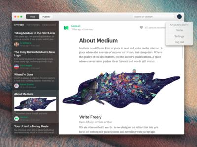 Medium Client for Mac medium client osx app mac interface ux ui