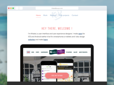 Portfolio Homepage freelance ux resumé work gallery graphic interface ui web design portfolio