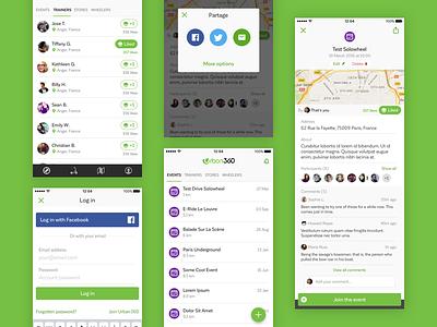 Urban360 - Community app design mobile app android ios design interface ux ui