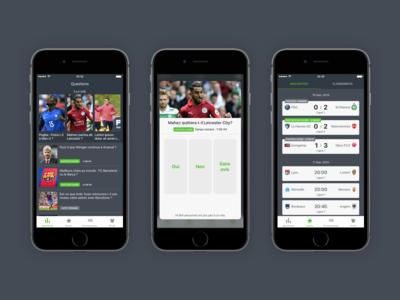 Football App iphone android ios app football design iterface ux ui