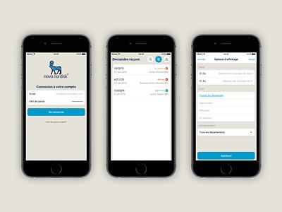 Dashboard App for NovoNordisk Algeria novonordisk mobile interface design app ios iphone ux ui