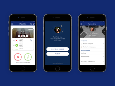 MelloPlot : Tinder-like app for Musicians cards card ui product design tinder music iphone android ios uxdesign uidesign ux ui