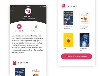 Horoscope App android horoscope ui mockup iphone interface device design apple ios