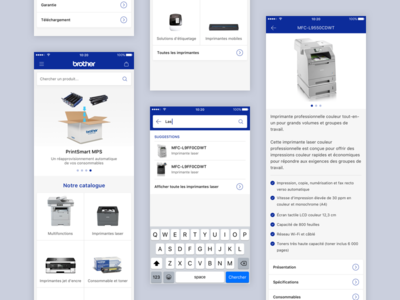 Proposal for Brother France sketch uxdesign ux uidesign ui product design iphone ios android