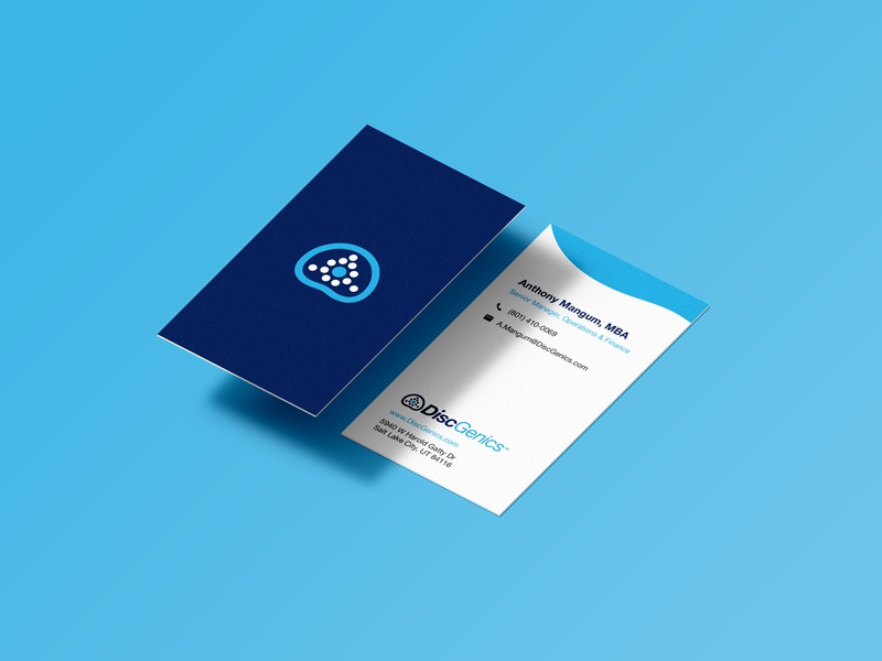 Business Card Design for Medical Company business card