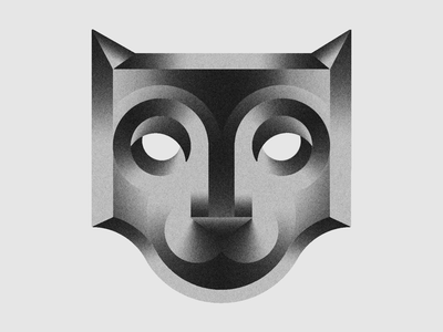 El gato logo gradient cat geometric