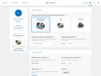 Profile Management Page