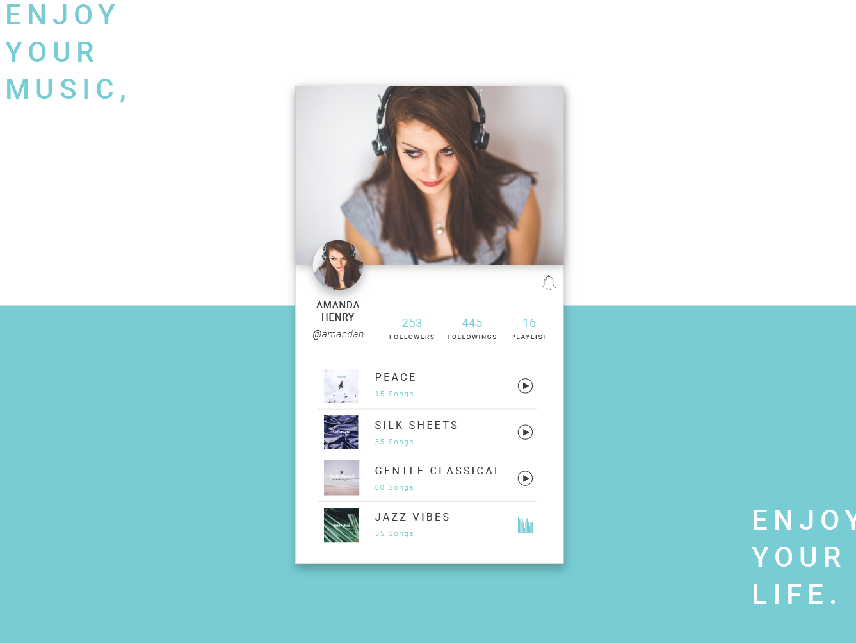 Daily UI Challenges - User Profile. vector dailyui app icon ui illustration design