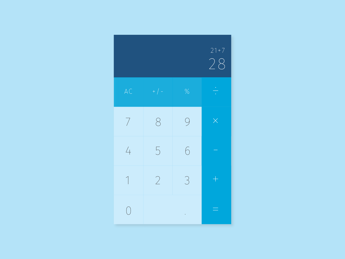 Daily UI Challenges - Calculator colortheory calculator dailyui branding flat vector typography ui illustration design