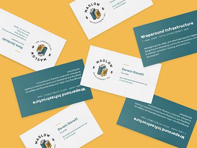 Maslow Development Inc - Business Cards corporate branding logo design business cards branding visual identity