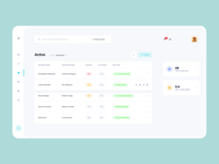 Tulip Cremation - Dashboard interface list view user inteface product design design ux dashboad clean ui minimal