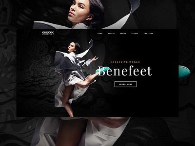 Geox Benefeet design simple clean landing page fashion website ux ui web
