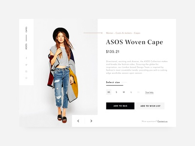 Day 002 - Product Card product card fashion minimal ecommerce web shop product flat e-commerce daily100 cart
