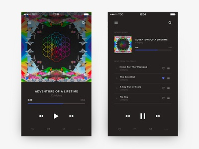 Day 004 - Music Player user interface music player ui playlist player music minimal daily100 clean