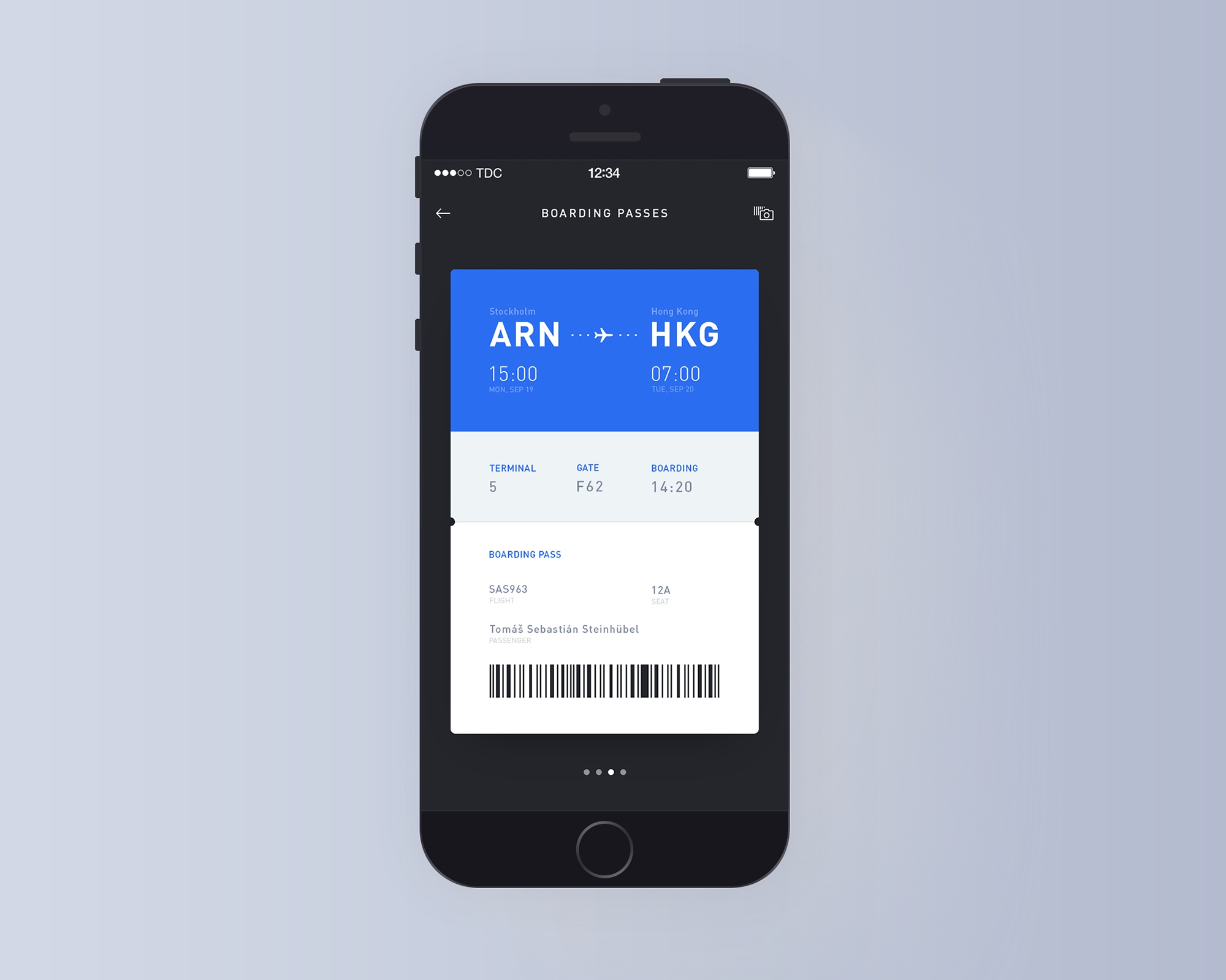 Day009 boarding pass mockup