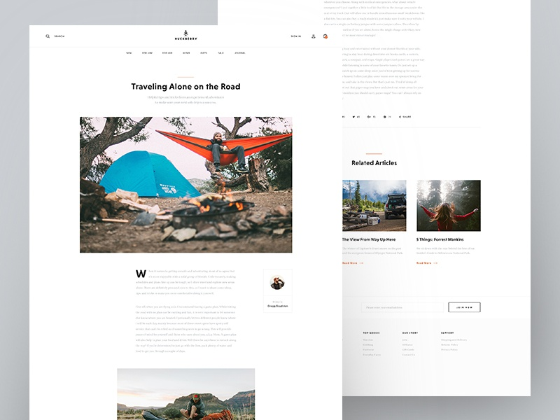 Huckberry - Article quote ecommerce shop web typography minimal clean post blog article