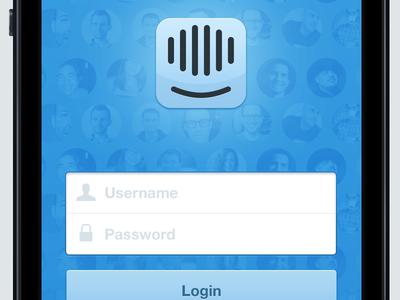 Simple login screen