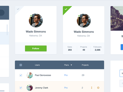 UI Kit Preview ui ux kit user profile elements clean dashboard interface