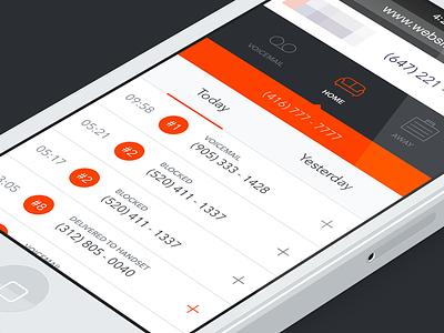 Responsive dashboard [wip] web website ui responsive dashboard mobile iphone phone call flat icon tab