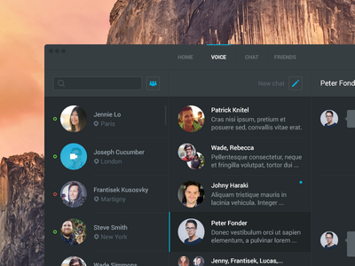 Voice app [wip] app linux mac os win user chat ui interface clean steam flat