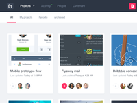 Invision app design evolution