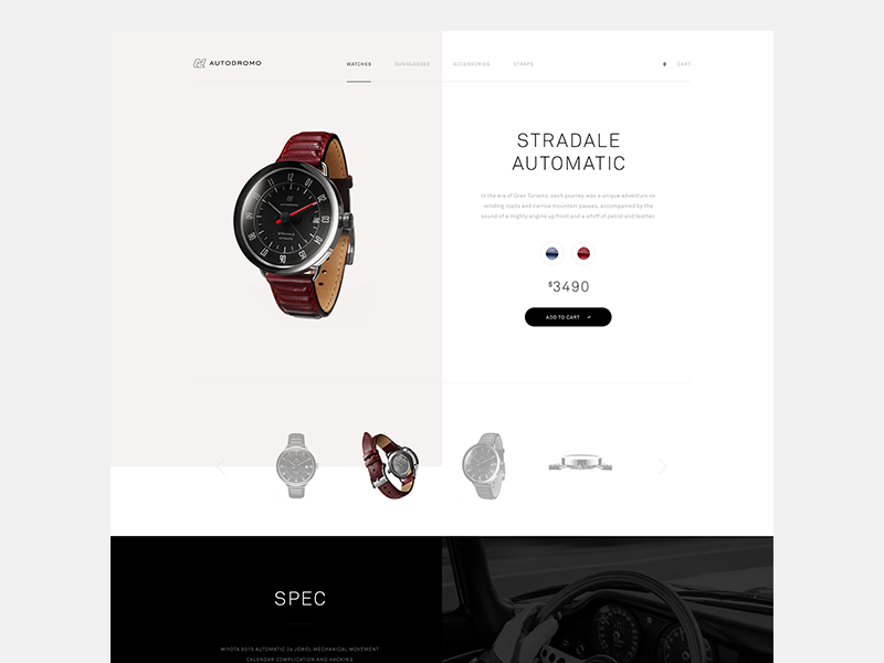 Product Preview [wip] theme light typography simple watch detail product eshop commerce website web